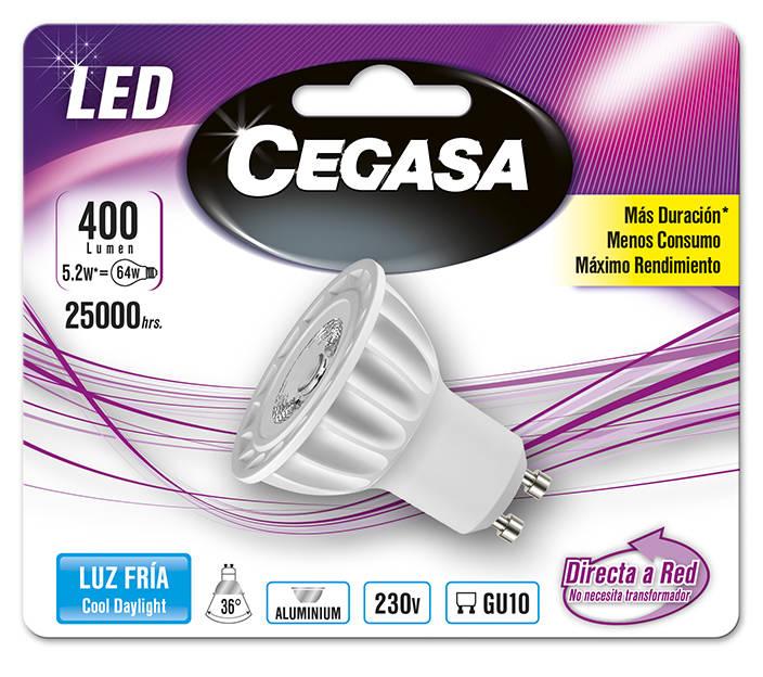 LMP CEGASA LED DIC 5,2W GU10 BL1 FRIA