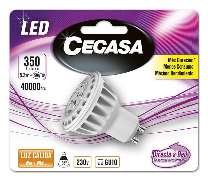 LMP CEGASA LED DIC 5,3W GU10 BL1 CALIDA