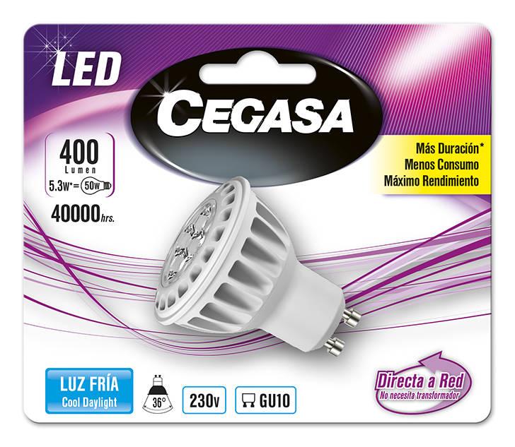 LMP CEGASA LED DIC 5,3W GU10 BL1 FRIA