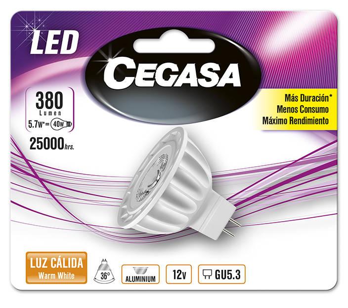 LMP CEGASA LED DIC 5,7W GU5.3 BL1 CALIDA