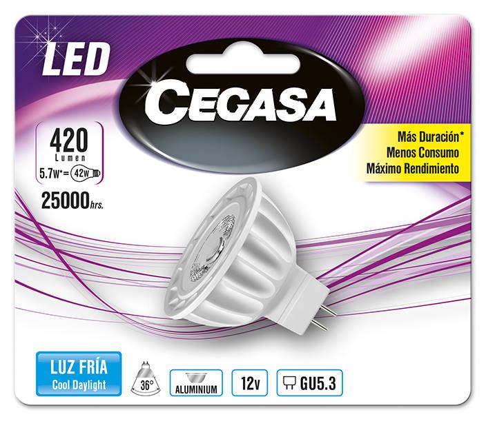 LMP CEGASA LED DIC 5,7W GU5.3 BL1 FRIA