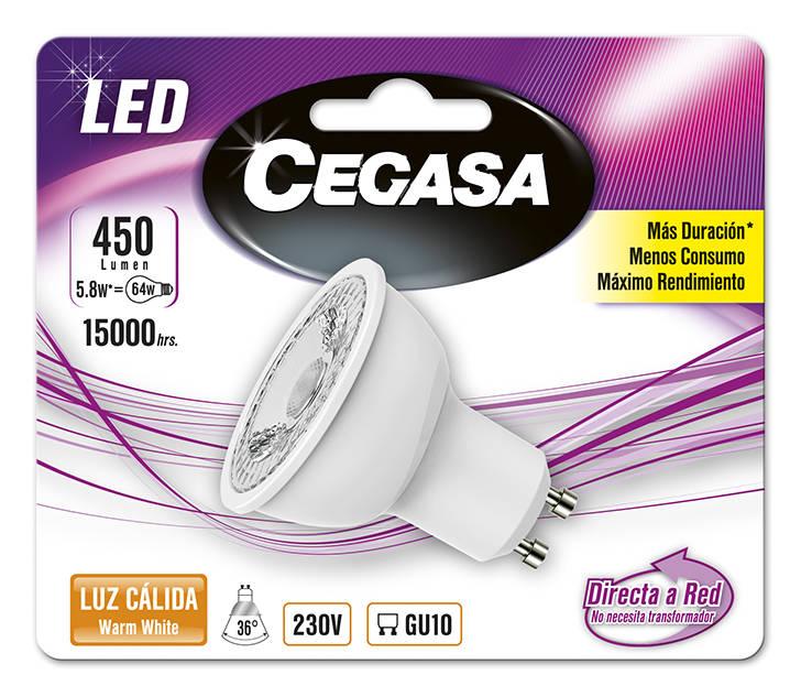 LMP CEGASA LED DIC 5,8W GU10 BL1 CALIDA