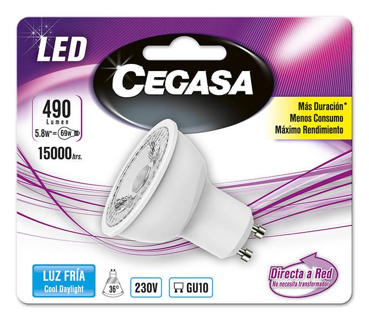 LMP CEGASA LED DIC 5,8W GU10 BL1 FRIA