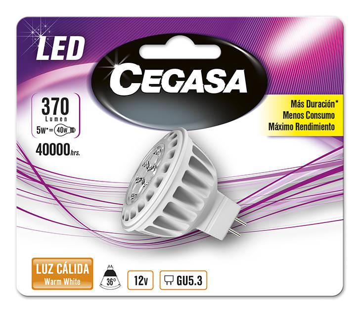 LMP CEGASA LED DIC 5W GU5.3 BL1 CALIDA