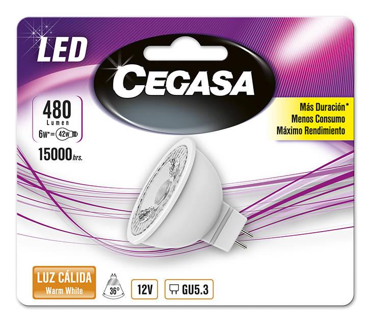LMP CEGASA LED DIC 6W GU5.3 BL1 CALIDA