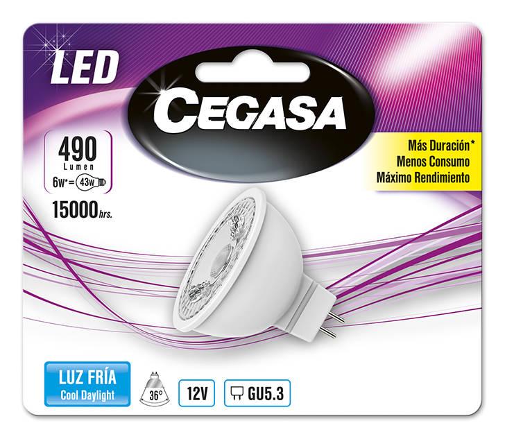 LMP CEGASA LED DIC 6W GU5.3 BL1 FRIA
