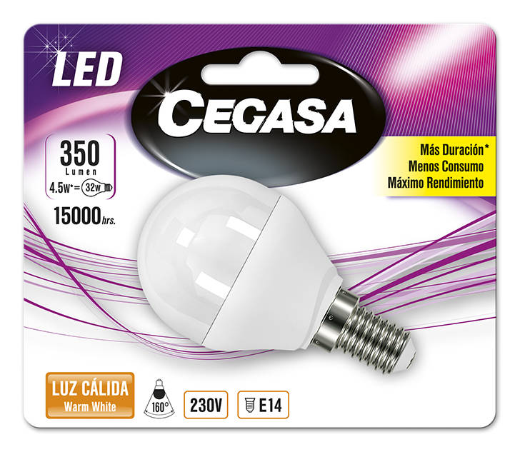 LMP CEGASA LED STANDARD 4,5W E14 BL1 CALIDA