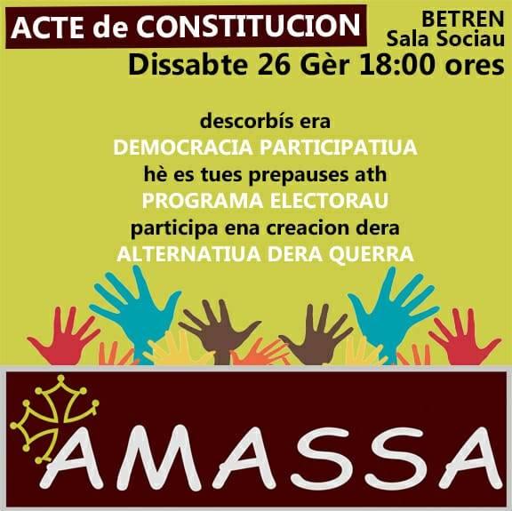 Acte de constitucion dera plataforma politica