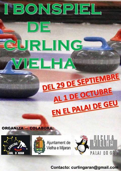 Aguesta dimenjada, gaudís deth prumèr Bonspiel de Curling en Vielha