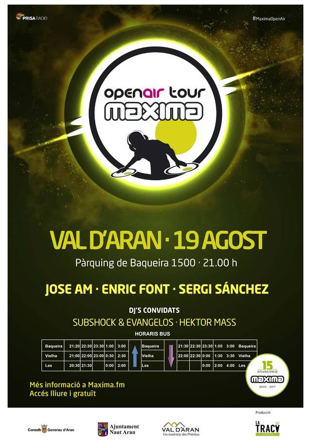 Arribe eth Maxima Open Air Tour 2017 a Baqueira
