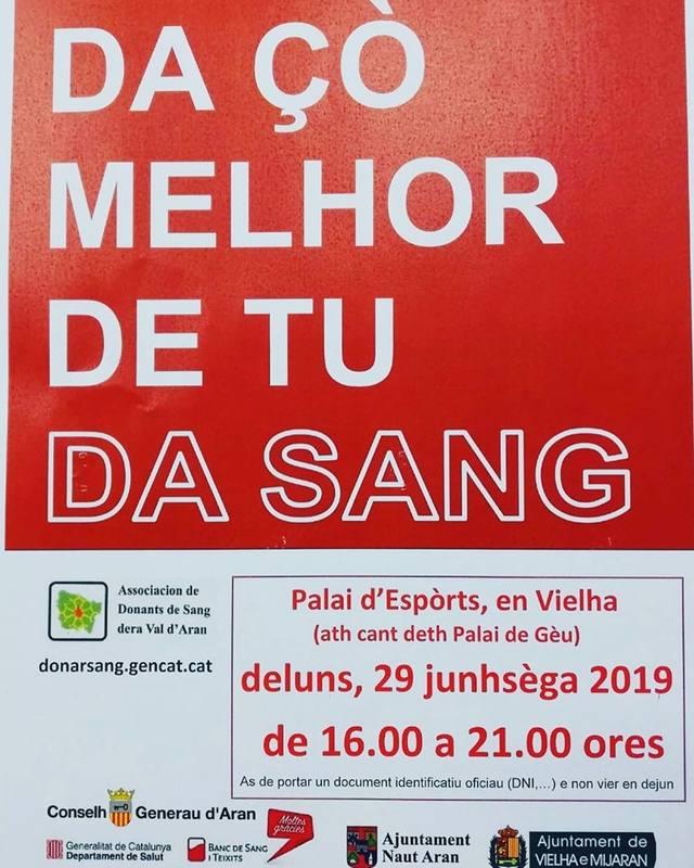 Aué pera tarde, campanha de donacion de sang en Vielha