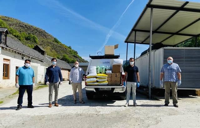 Bossòst arrecep ua donacion de materiau sanitari dera enterpresa Luxam Energia