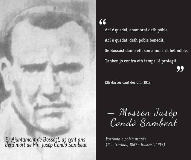 Bossòst commemòre a Mossen Josèp Condò en centenari dera sua mòrt