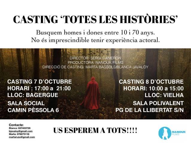 """Castings ena Val d'Aran entath film """"Totes les històries"""""""