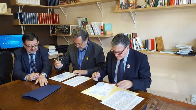 Cession dera toponimia aranesa entre er Institut Cartografic de Catalonha e er IEA
