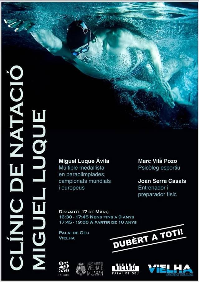 Clinic de Natacion damb eth medalhista Miguel Luque