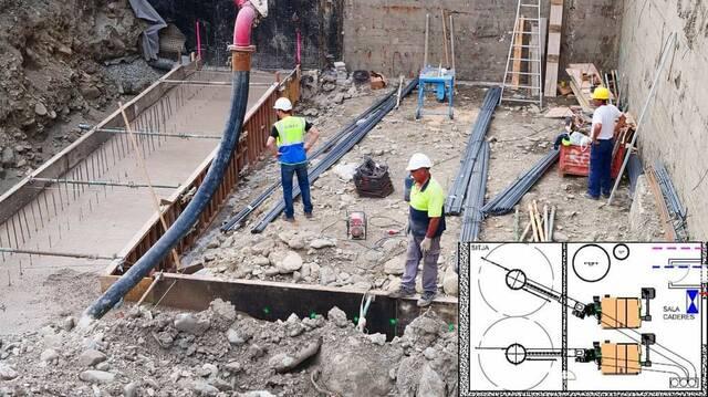 Comencen es òbres d'installacion d'ua caudèra de biomassa en Espitau Val d'Aran