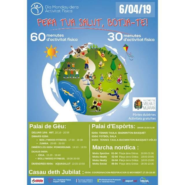 Er Ajuntament de Vielha e Mijaran s'ahig ath Dia Mondiau dera Activitat Fisica damb un ample calendari d'activitats der 1 ath 6 d'abriu