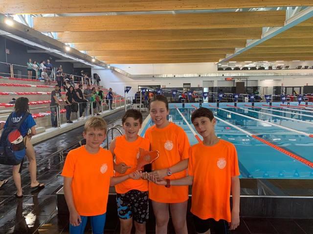 Es nedadors Ari Boya Jaquet e Bertrand Sirat Calvo, 3aus ena Finau per Delegacions de Catalunya