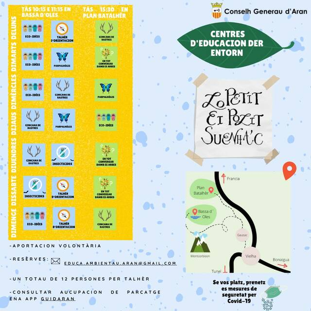 Eth Conselh Generau d'Aran aufrirà activitats d'educacion ambientau enes refugis de Bassa d'Oles e Plan Batalhèr