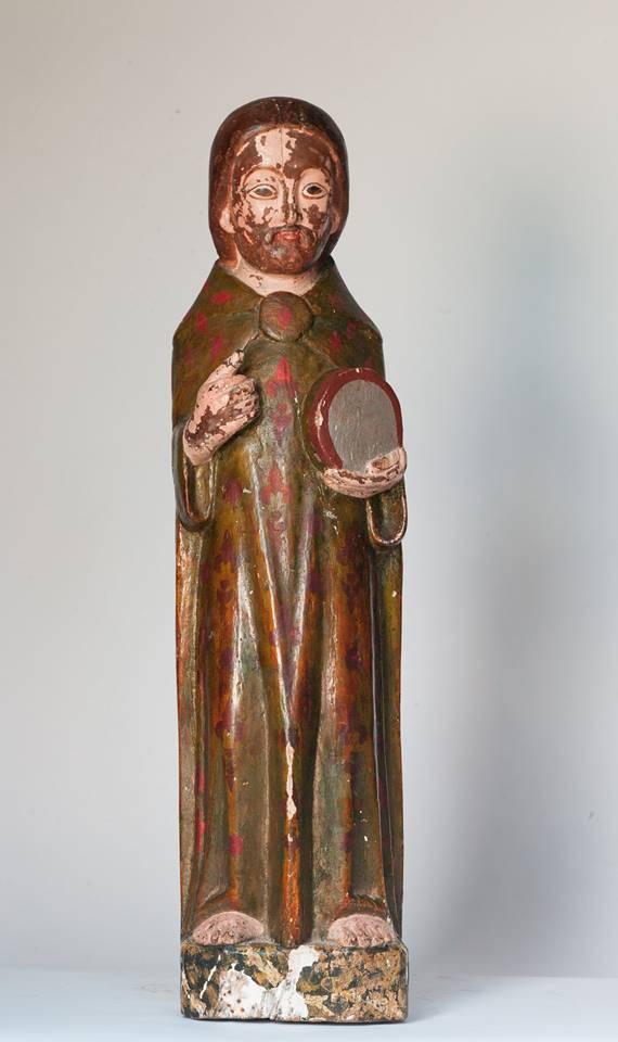 Eth Conselh restaure era imatge gotica de Sant Joan Baptista