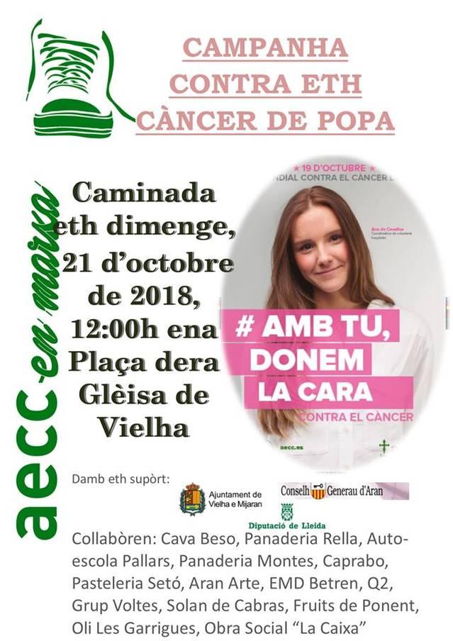 Eth dimenge 21 d'octobre, caminada entà commemorar eth Dia Mondiau contra eth càncer de popa