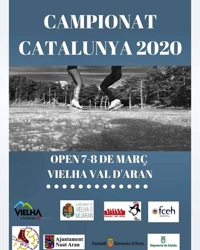 Eth Palai de Gèu de Vielha acuelh eth Campionat de Catalonha de patinatge artistic sus gèu eth 7 e 8 de març