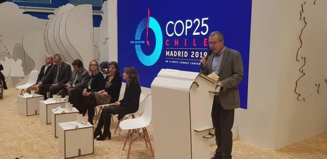 Eth sindic d'Aran participe ena cima contra eth cambi climatic (COP25) en Madrid
