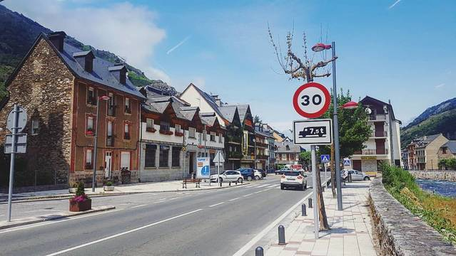 Foment limite era velocitat maximala des camions en Bossòst a 30 km/o