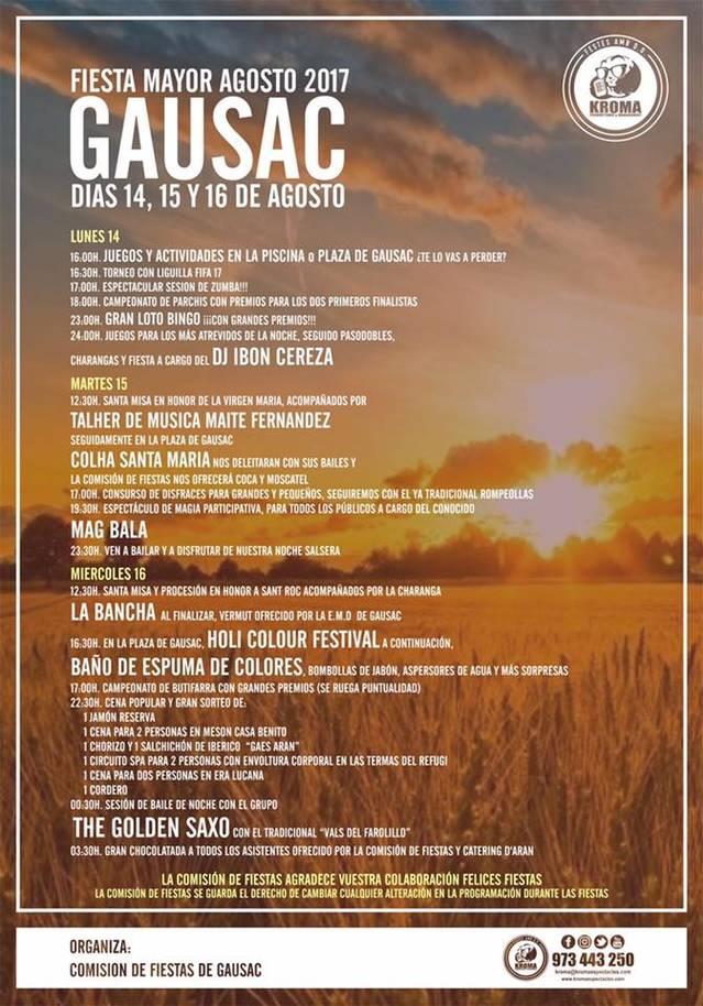 Hèstes Majors de Gausac deth 14 ath 16 d'agost