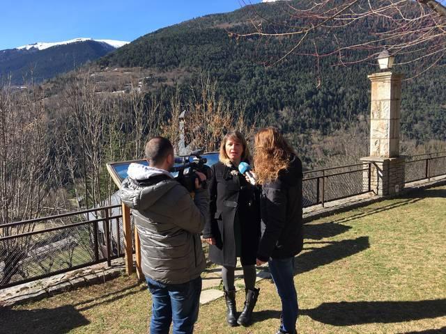 Eth sindic d'Aran Carlos Barrera e era conselhèra de Torisme Anna Díaz en programa Ara Lhèida Tour des dera Val d'Aran