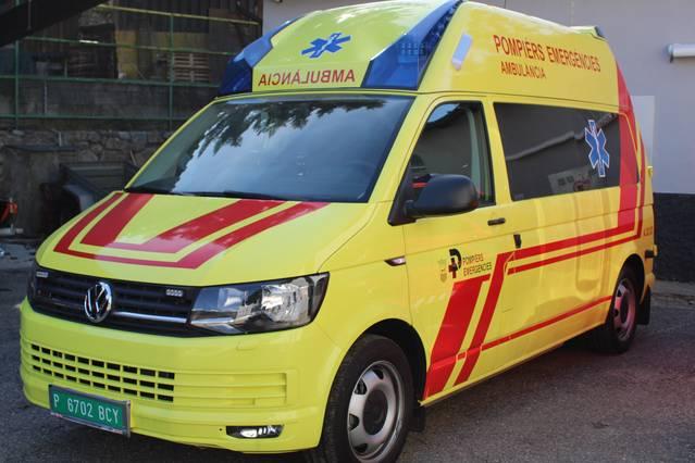 Naua ambulància deth Servici Integrau de Pompièrs e Emergéncies d'Aran