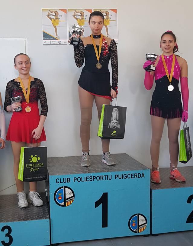 Pòdiums tath CEGVA en Campionat de Catalunya de Patinatge Artistic celebrat en Puigcerdà