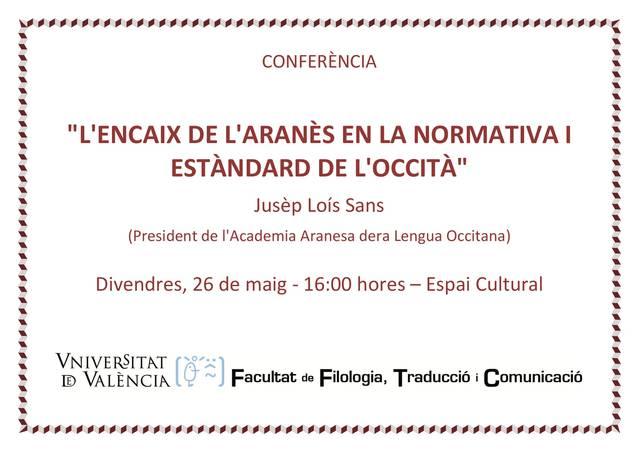 Presentacion dera Acadèmia Aranesa dera Lengua Occitana en Valéncia