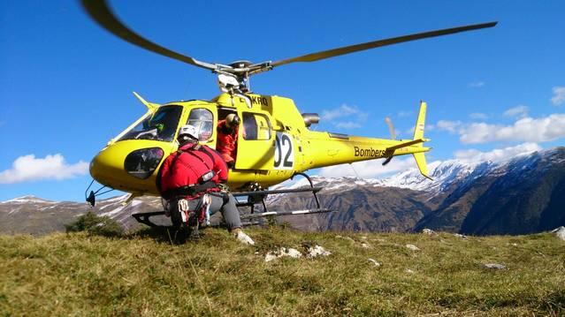 Rescatades 6 persones en Val de Ruda per ua pana deth sòn elicoptèr