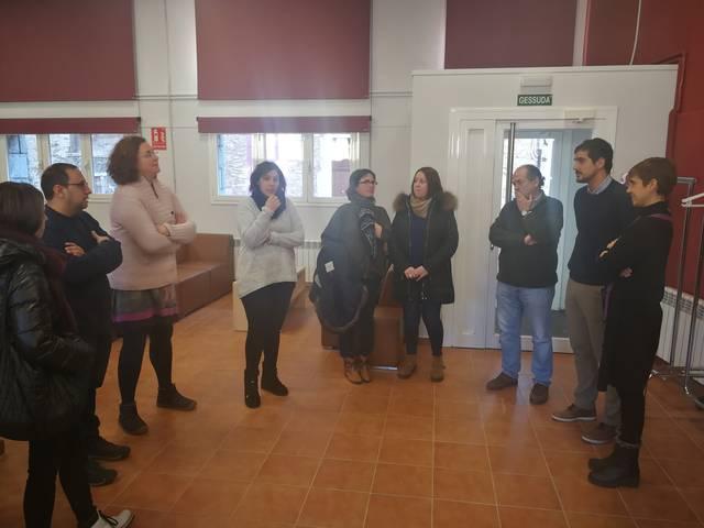 Visita dera coordinadora de Joenessa de Lleida a Antara
