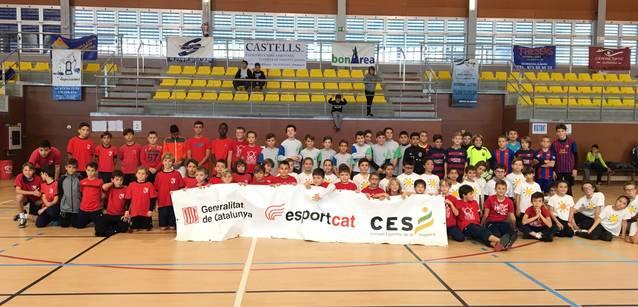1a trobada de futbol sala dels Jocs Esportius Escolars