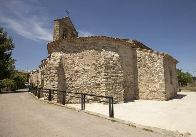 Acaben les obres vora l'església de Sant Pere dels Arquells