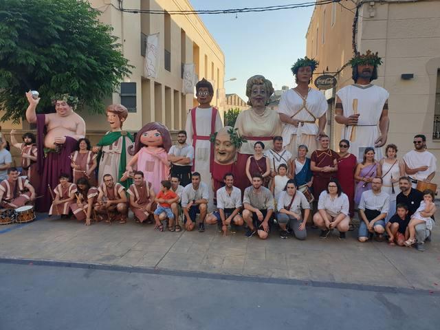 Comença la Setmana Romana de Guissona amb la tradicional desfilada dels gegants