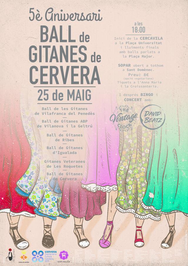 Cervera celebrarà els cinc anys del Ball de Gitanes el pròxim 25 de maig