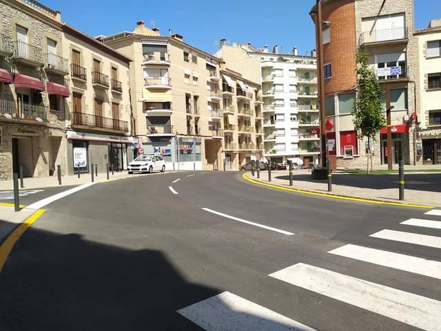 Cervera finalitza les obres al tram de l'avinguda Catalunya amb el carrer General Güell