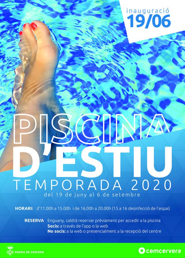 Cervera inaugurarà la temporada de piscines d'estiu el divendres 19 de juny