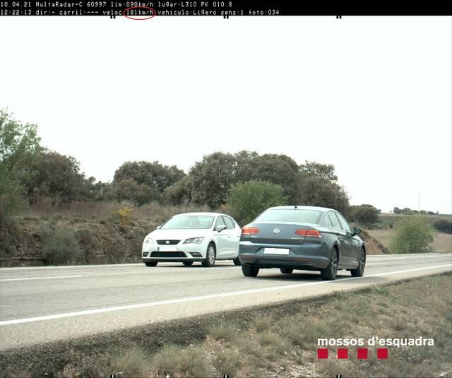 Denunciat un veí de Guissona per conduir per l'L-310 a més del doble de la velocitat permesa