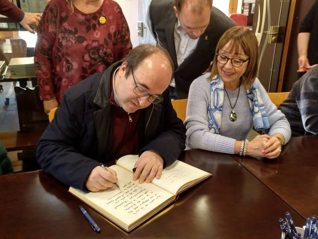 El 1er Secretari del PSC, Miquel Iceta, visita Guissona