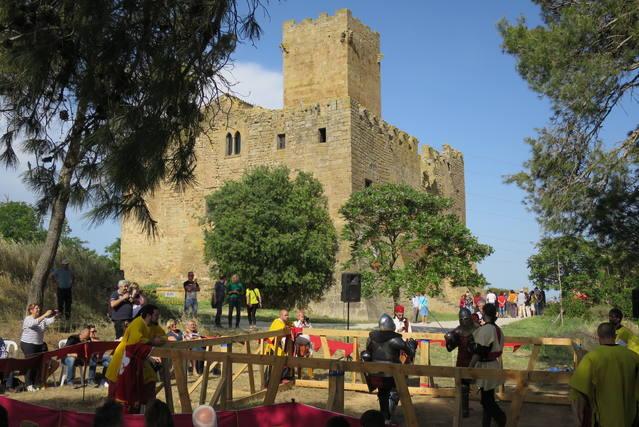 El castell de Les Sitges acull el primer combat medieval de la Segarra