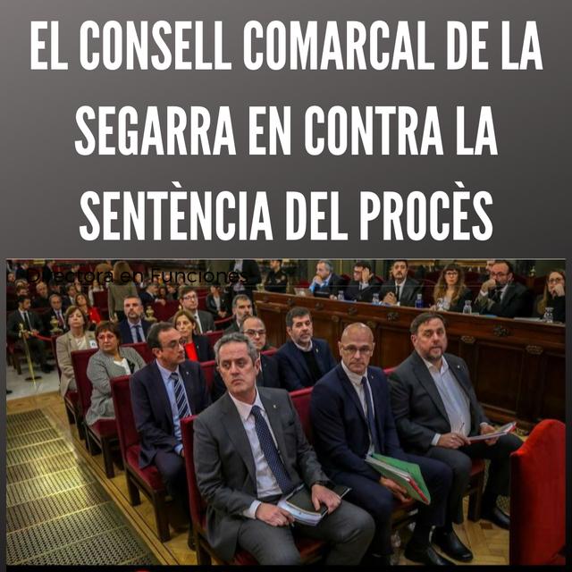 El Consell Comarcal de la Segarra manifesta el seu rebuig a la sentència