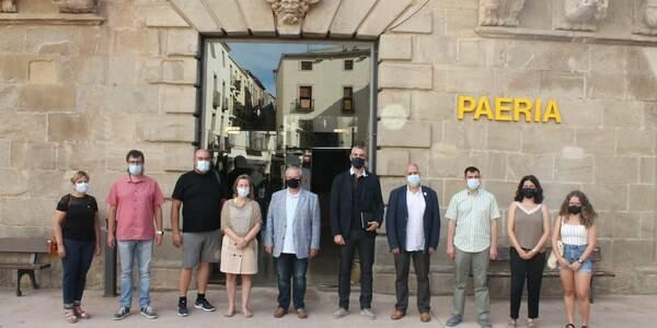 El delegat del Govern a Lleida, Bernat Solé, visita la Paeria de Cervera