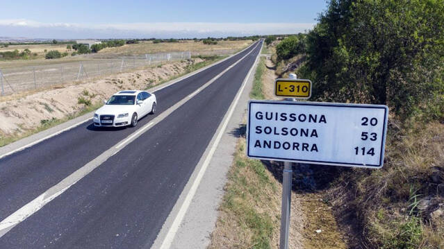 El Govern repara d'urgència l'L-310 de Guissona a Tàrrega per les queixes