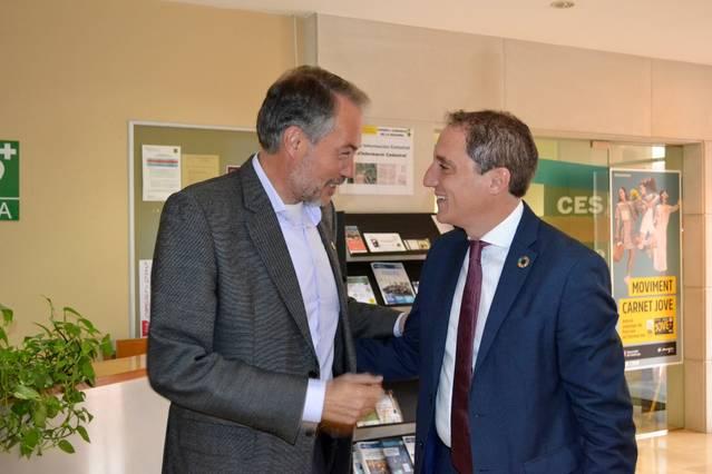 El Subdelegat del Govern a Lleida, José Crespín, visita el Consell Comarcal de la Segarra