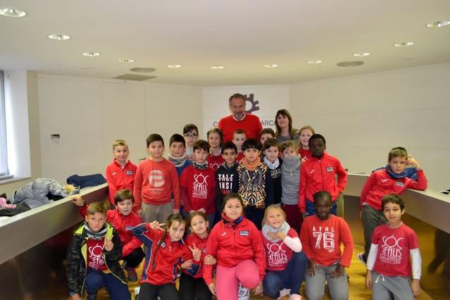 Els alumnes de 4t de l'escola Ramon Faus i Esteve de Guissona visiten el Consell Comarcal
